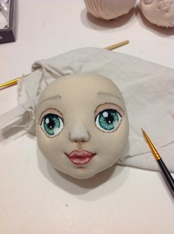 Рисунок своими руками куклу